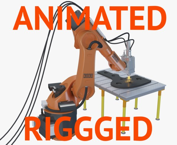 kuka robot rigged 3D model