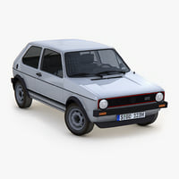 3D model volkswagen golf mk1 5-door