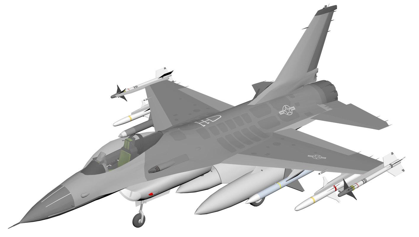 3D f16 c fighting falcon