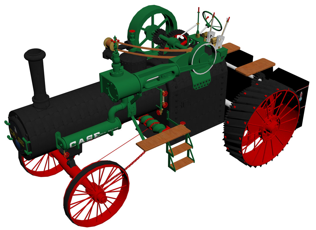 3D case 1911 traction engine model