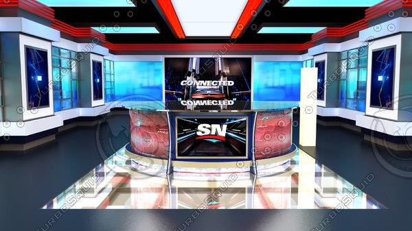 virtual news 3D model