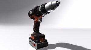 black decker cordless drill 3D