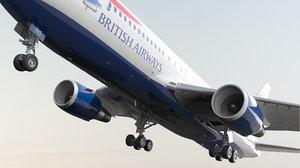 3D model boeing 767-200