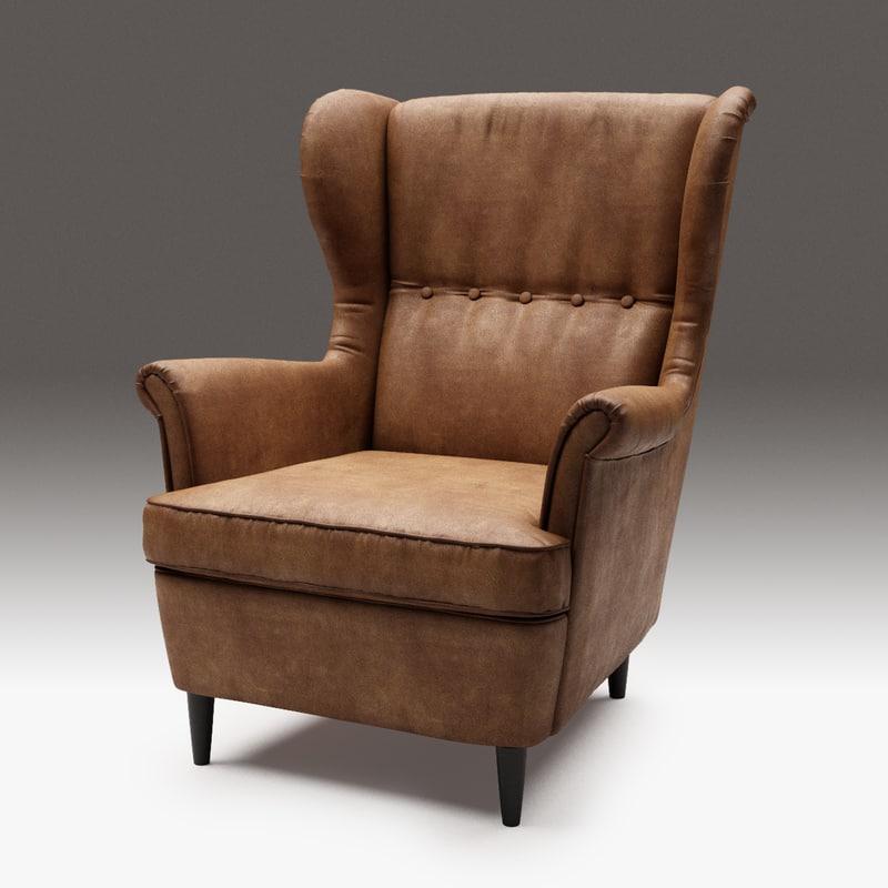 ... 3D Strandmon Wing Chair Ikea ...