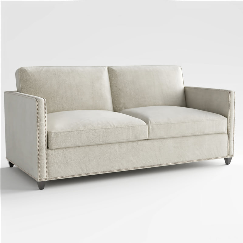 Crate Barrel Dryden Sleeper Sofa 3D Model