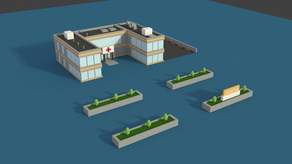 3D hospital parking model