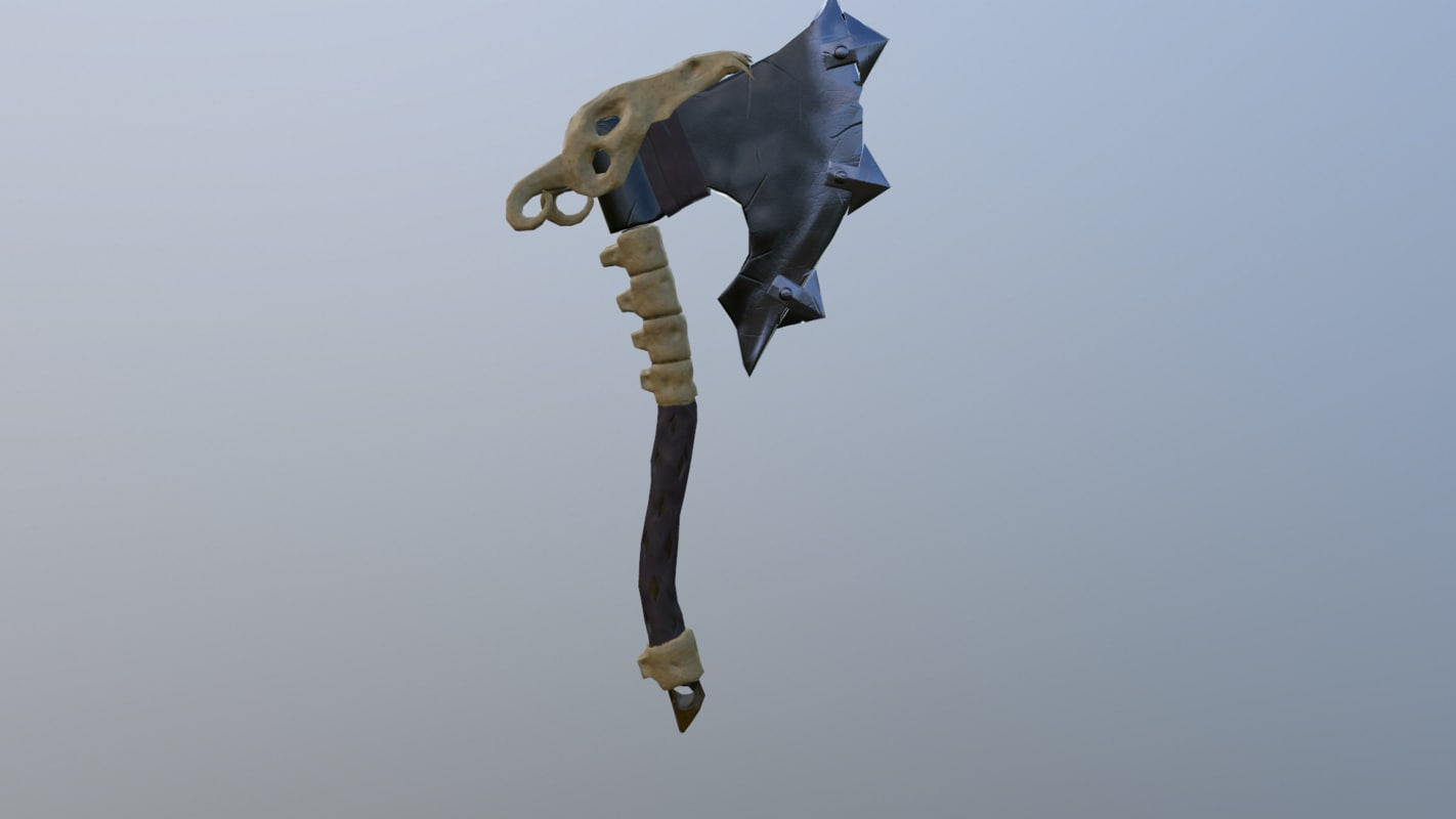 3D goat axe
