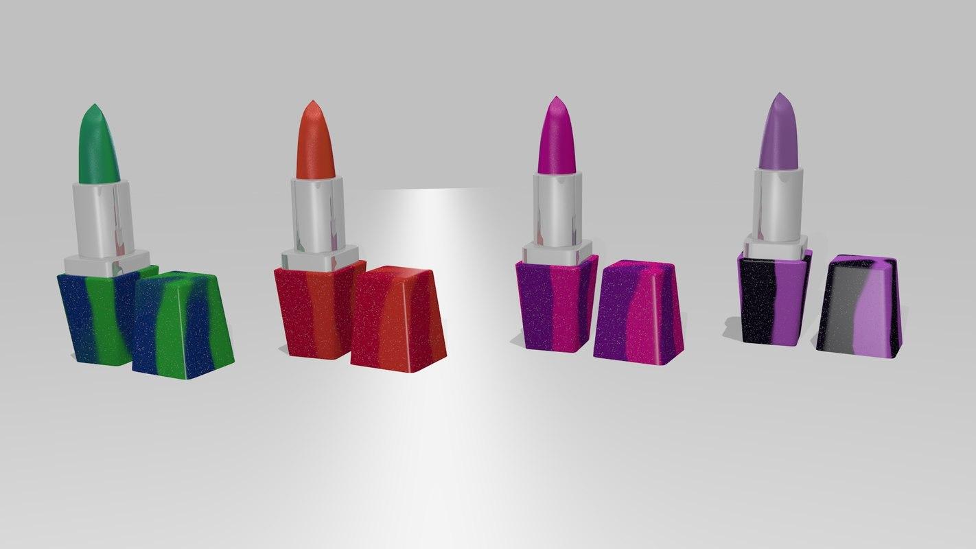 carnival lipsticks 3D model