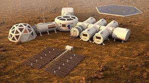 colony mars 3D