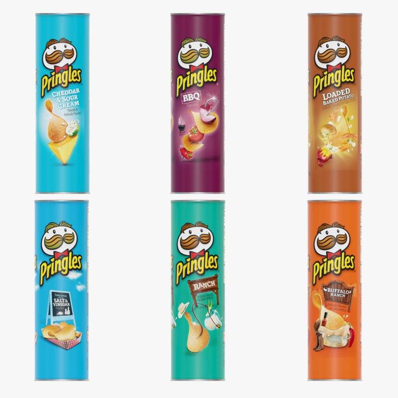chips potato pringles 3D model