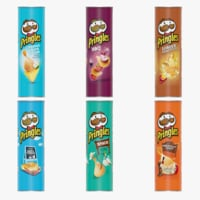 chips potato pringles 3D model