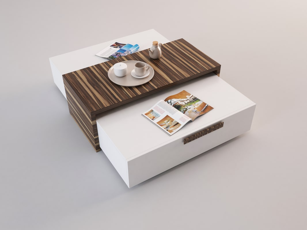 wood coffee table model