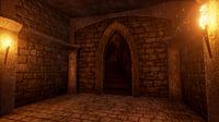 3D model pbr modular dungeon