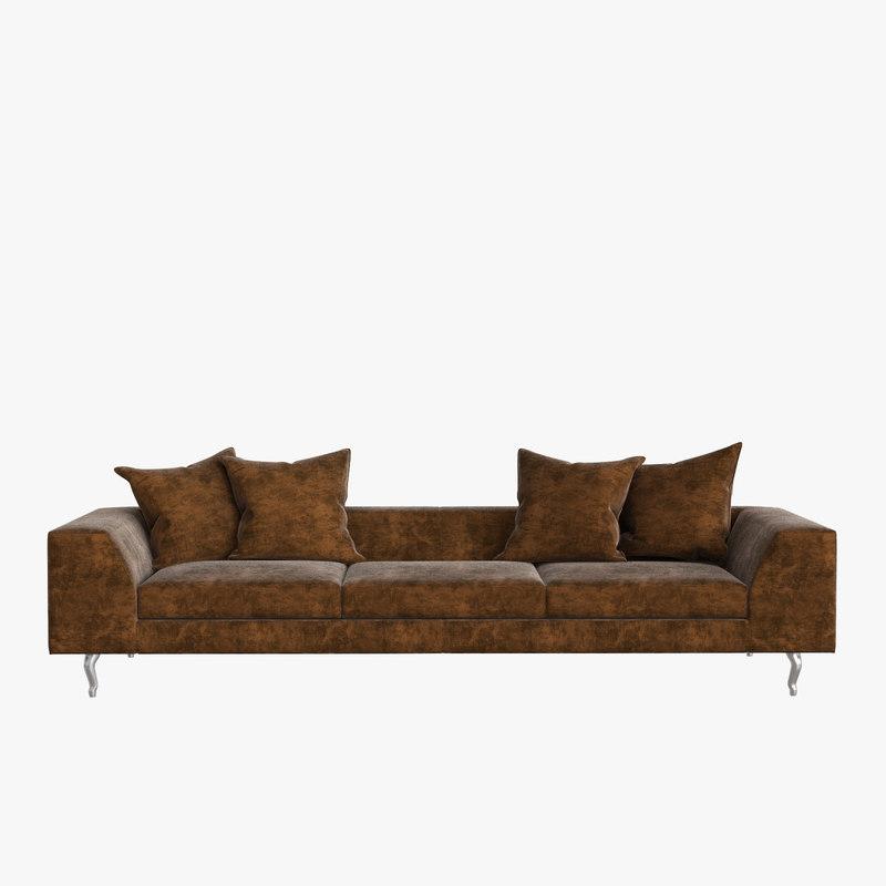 Marcel wanders zliq sofa interior 3D model - TurboSquid 1207869
