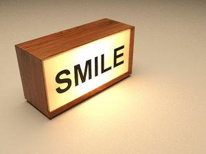 typographic light box 3D model