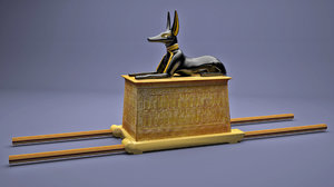 anubis shrine tutankhamun 3D model
