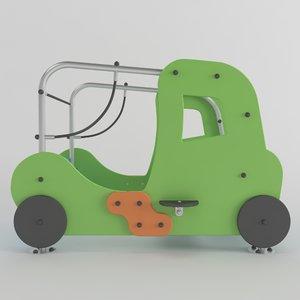 3D wood car playground model