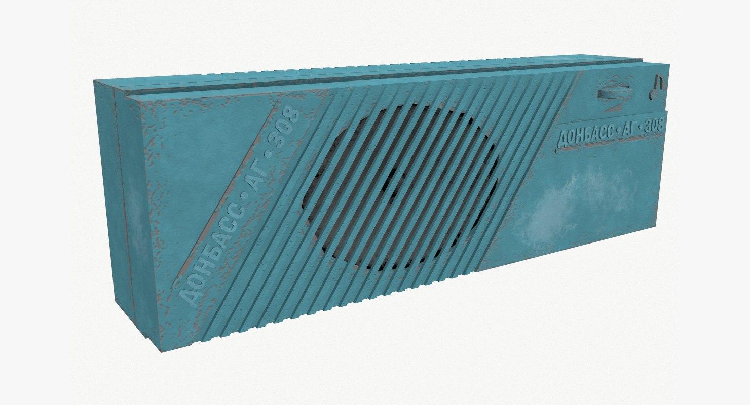 radio donbass ag 308 3D model