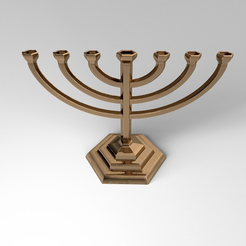 3D golden menora