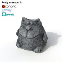 3D cat photogrammetry renders