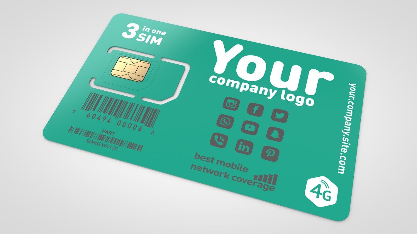 3D prepaid sim card