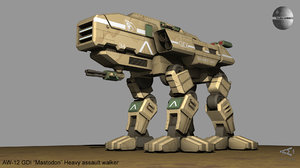 aw-12 mastodon gdi walker 3D model