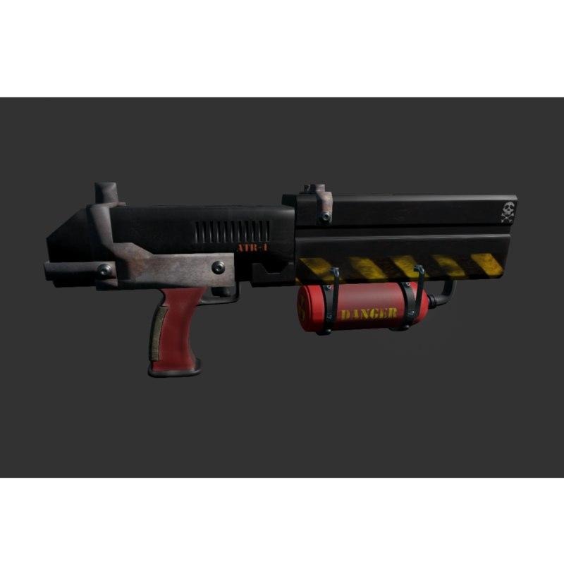 3D model pistol flame