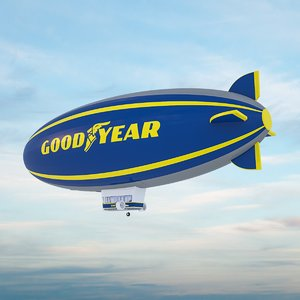 good year blimp - 3D model