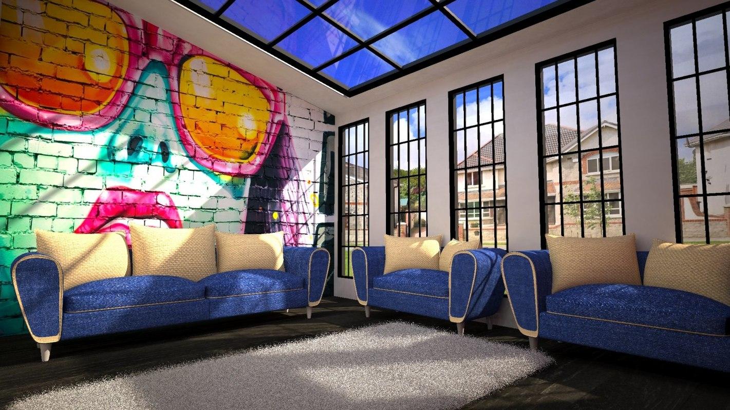 2015 lvng room 3D model