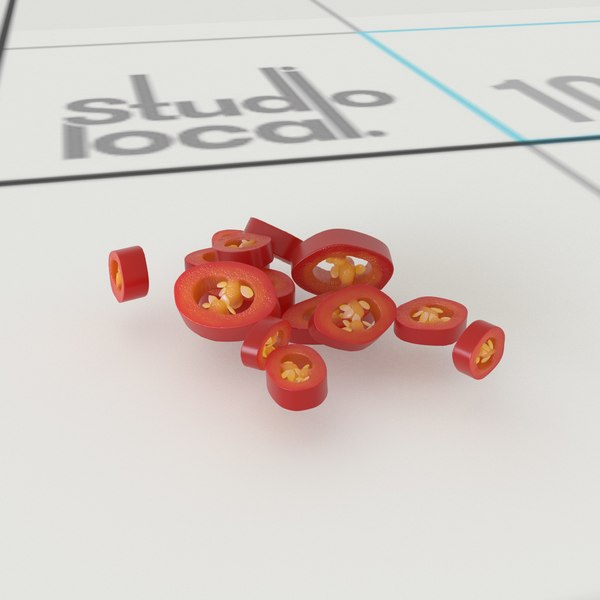 3D chopped chilli model