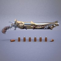 bullets pistol fantasy rifle model