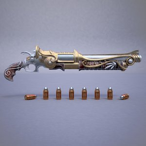 bullets pistol fantasy rifle model