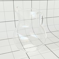 3D glass pitcher