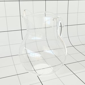 3D glass pitcher