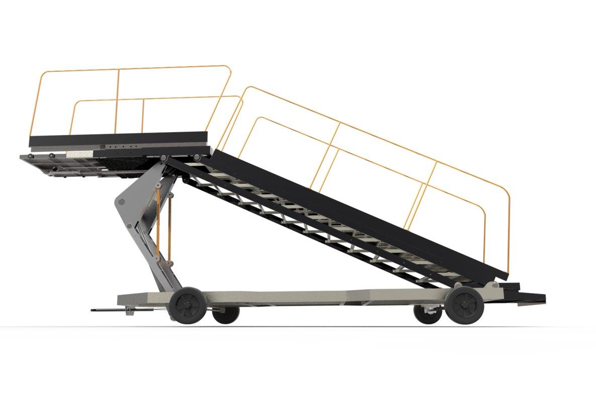3D towable ladder airport model