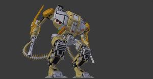 3D heavy mech