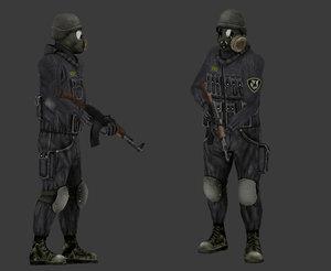 3D solder weapon ak-47