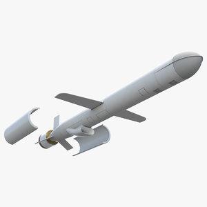 bgm-109g block iv tomahawk missile 3D model
