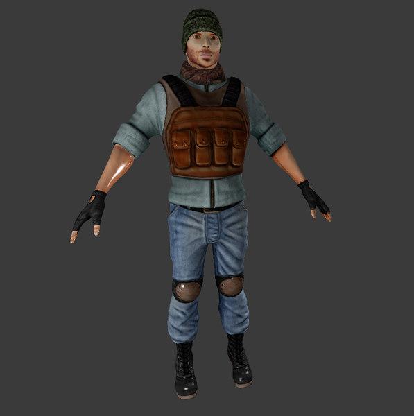3D terrorist model