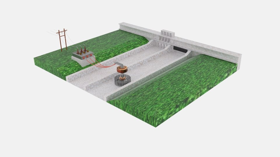3D hydro power plant
