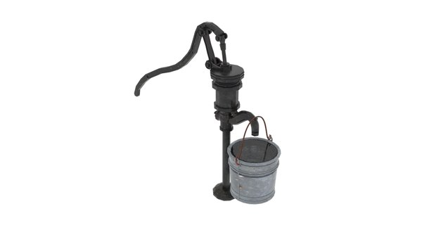 old water pumps gas 3D model