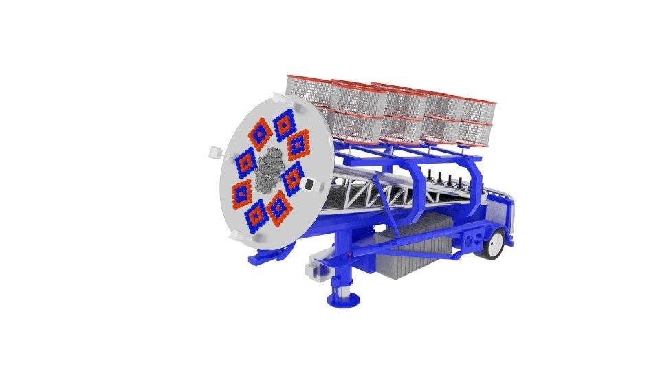 3D model trailer carnival spin cage