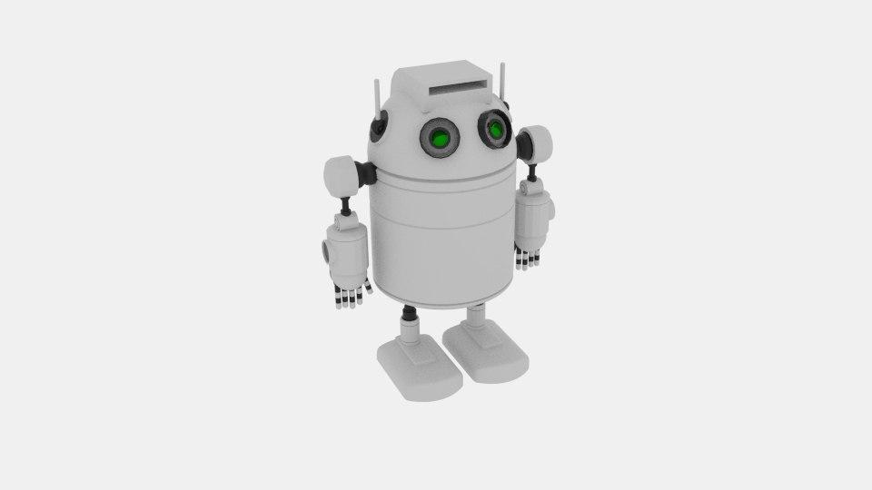 robo cylinder white 3D model