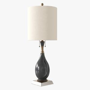 3D visual comfort tob3710blk-np table lamp