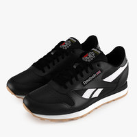3D reebok classic leather shoes