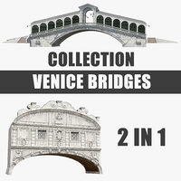 Venice Bridges 3D Models Collection