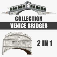3D venice bridges model