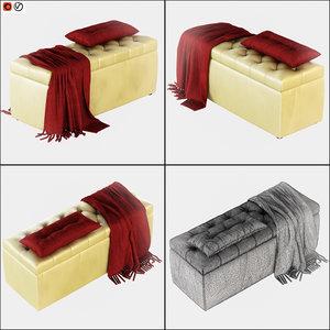 3D model pouf rennes bolzan letti