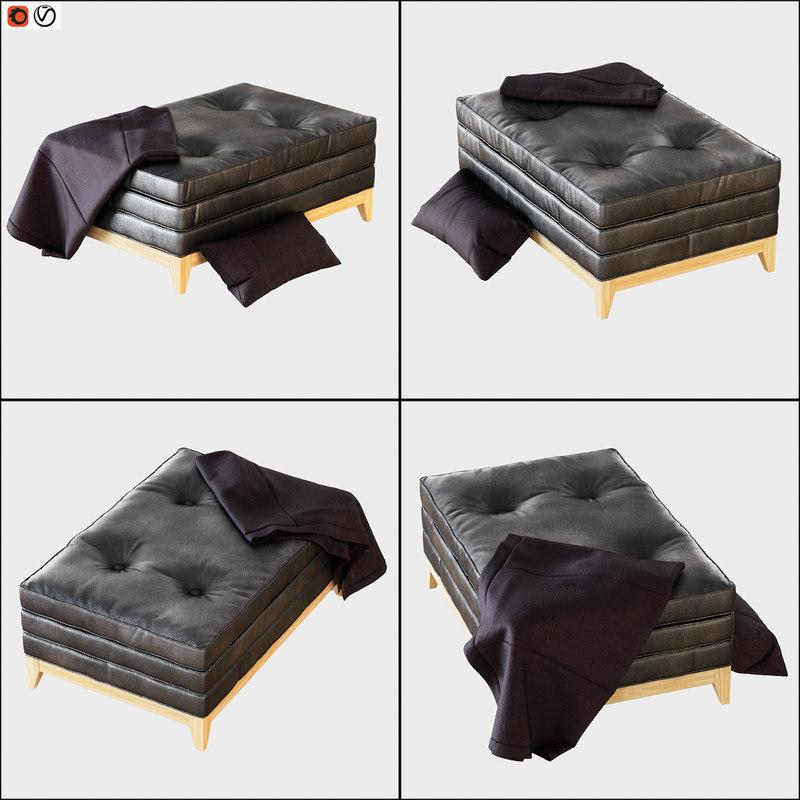 pouf moena 3D model