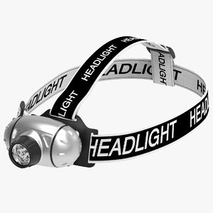 headlamp headband 3D model